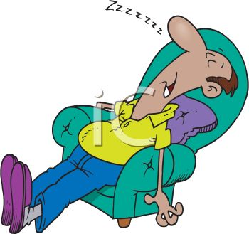 0511-1001-2706-2222_Tired_Dad_Snoring_in_His_Easy_Chair_clipart_image